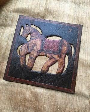 Image of Metal Wall Decor camel and Horse