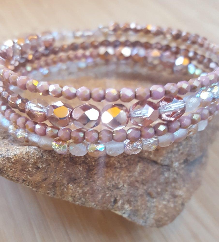 Image of Czech Bead Wrap Bracelet