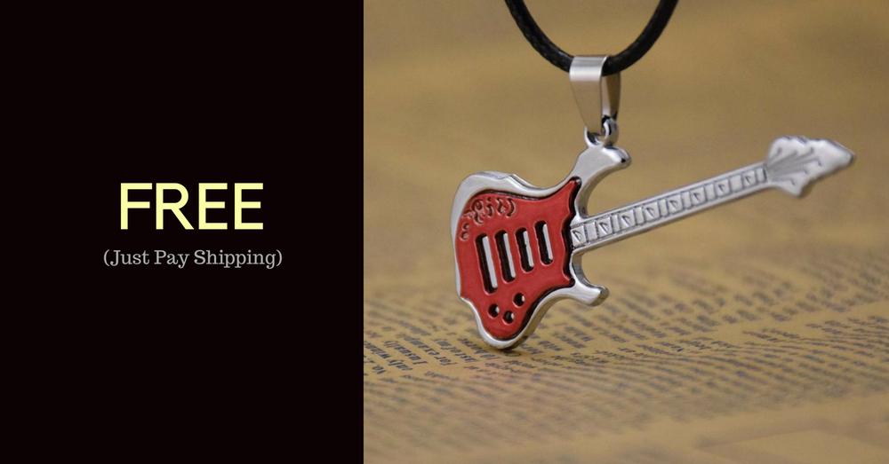 Image of Rockstar Guitar Necklace