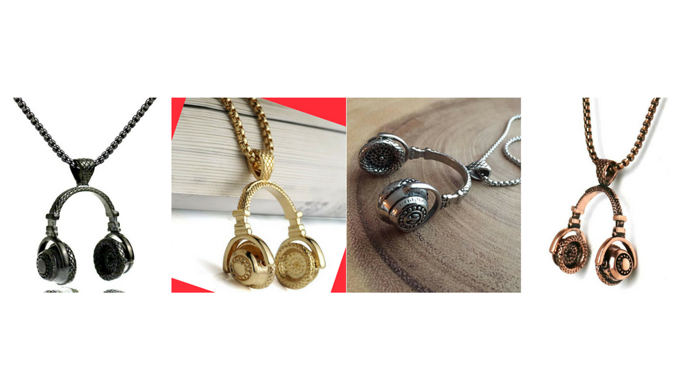 Image of DJ Celebrity Headphones Necklace