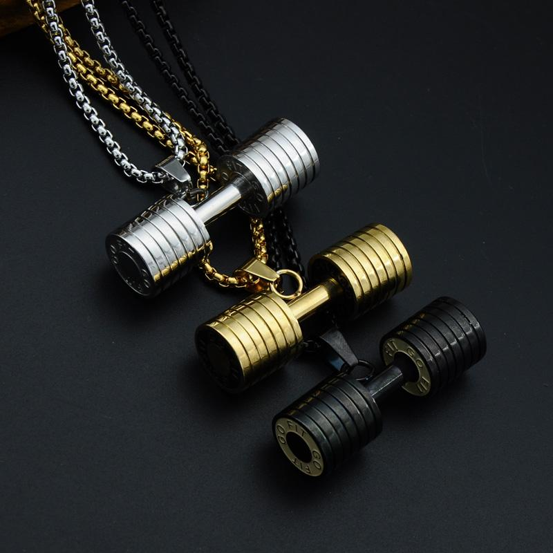 Image of Gains Barbell Necklace