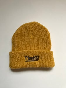 "Image of Mantis ""Salary Cap"" garage logo beanie yellow"