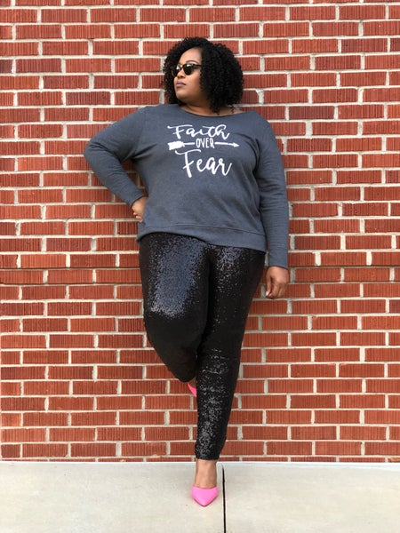Image of Black Sequin Leggings
