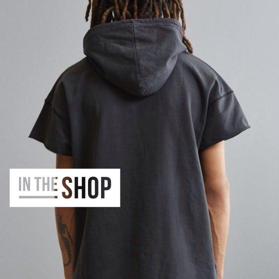 Image of Short sleeve layering hoodie