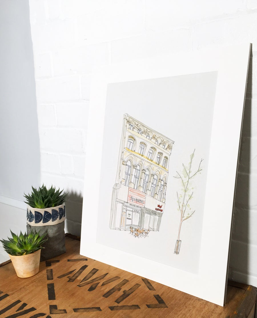 Image of Fig+sparrow & Vinyl Exchange- A3 individually hand painted limited edition print