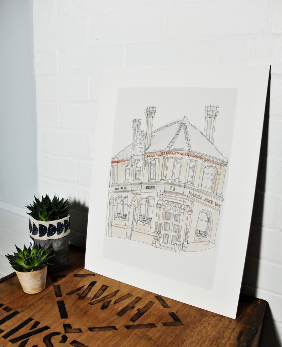 Image of The Marble Arch, Manchester- A3 individually hand painted limited edition print.