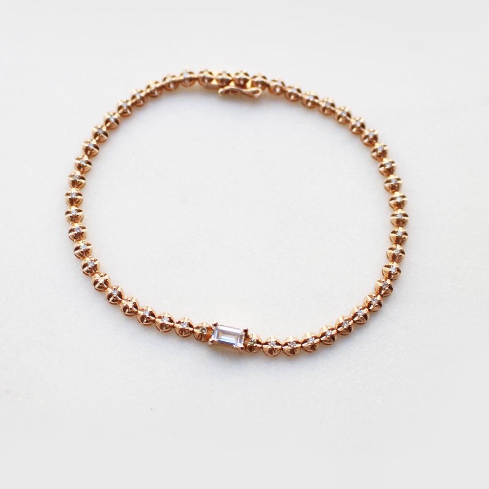 Image of Stardust White Sapphire Tennis Bracelet