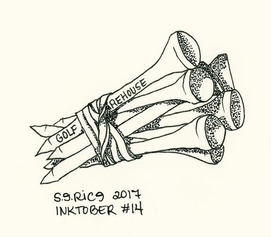 Image of Inktober #14 - Golf Tees