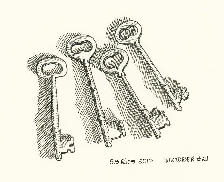 Image of Inktober # 21 - Keys