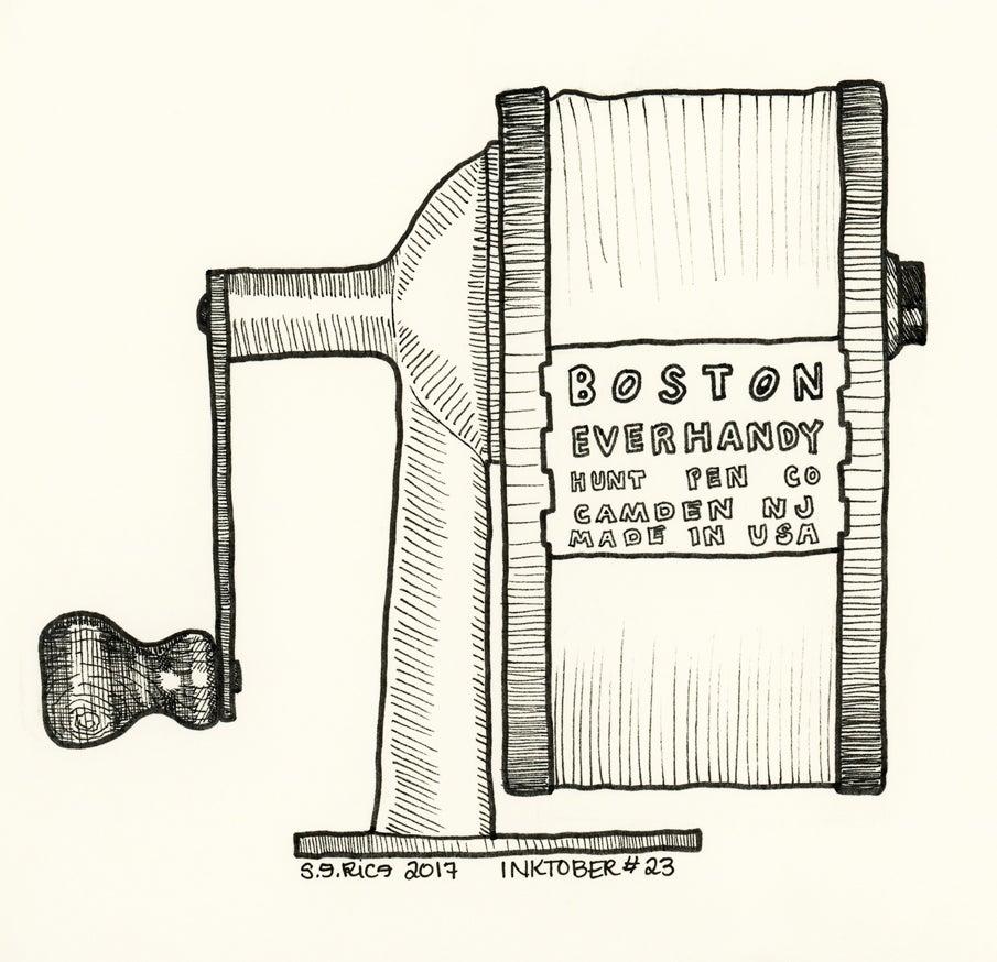 Image of Inktober #23 - Pencil Sharpener