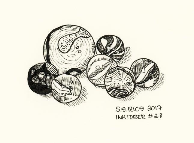 Image of Inktober #28 - Marbles