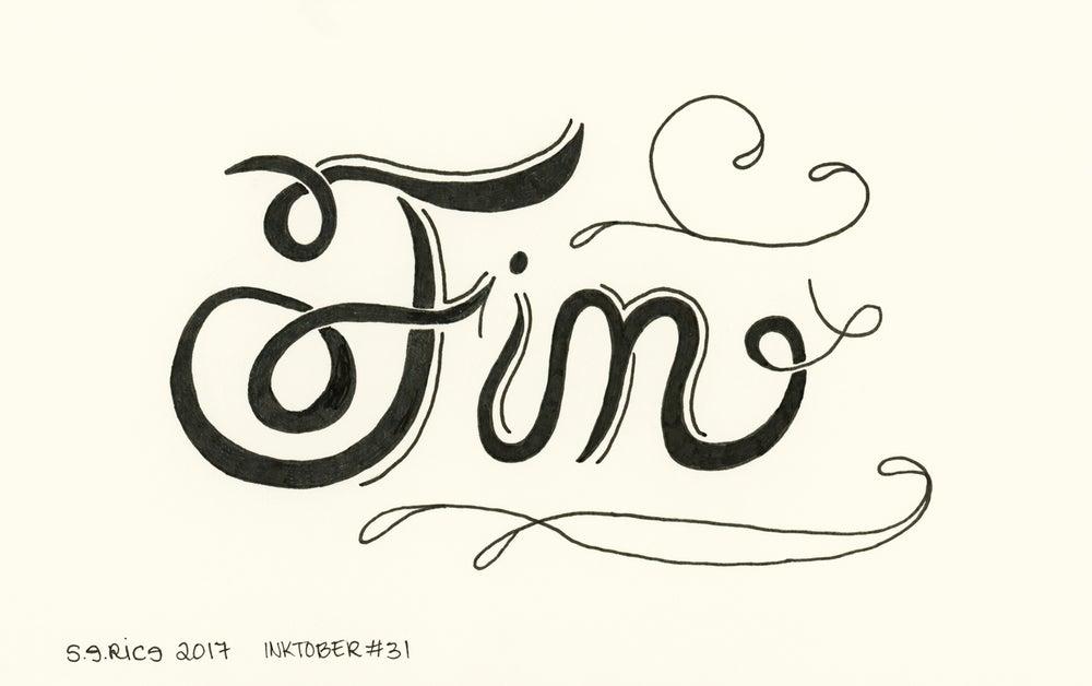Image of Inktober #31 - Fin