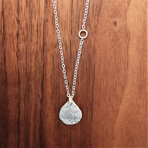 Image of Weathered drop necklace