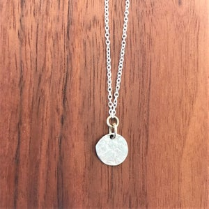 Image of Weathered Moon Necklace