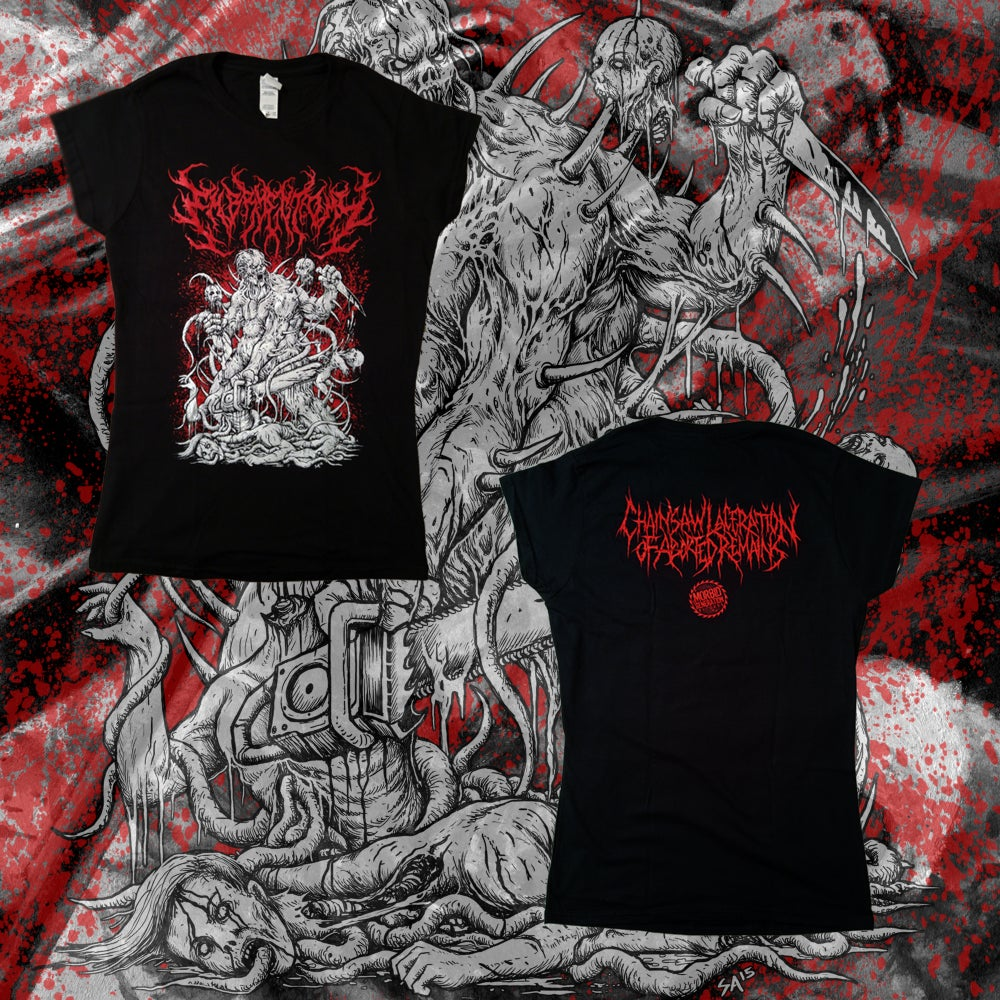 "Image of ""Chainsaw Laceration of Aborted Remains"" Women's T-shirt"