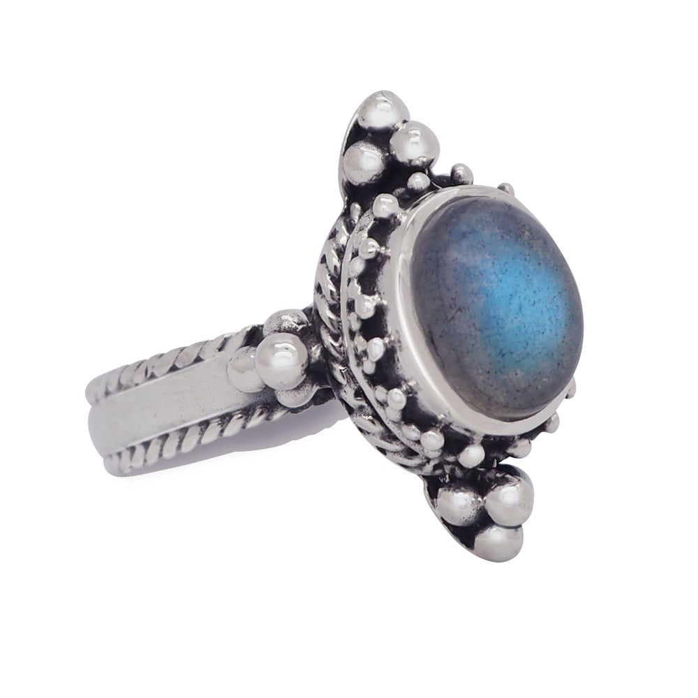 Image of Sterling Silver & Labradorite Bellatrix Ring