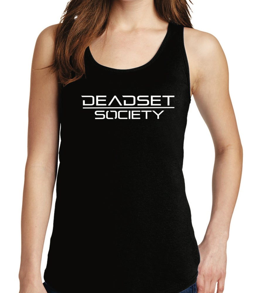 Image of <b>DEADSET SOCIETY </b><br>Tank Top (Women's) Black w/ White Logo<br>