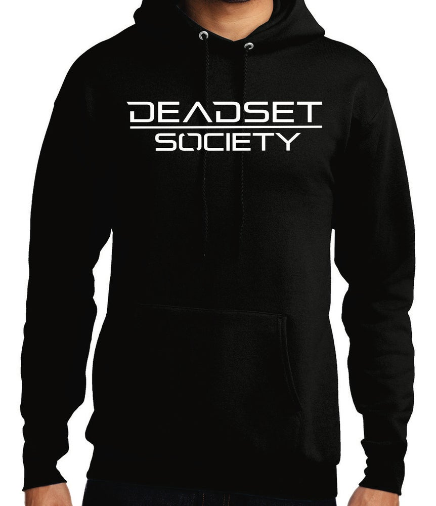 Image of <b>DEADSET SOCIETY </b><br>Hoodie Black  w/ White Logo<br>