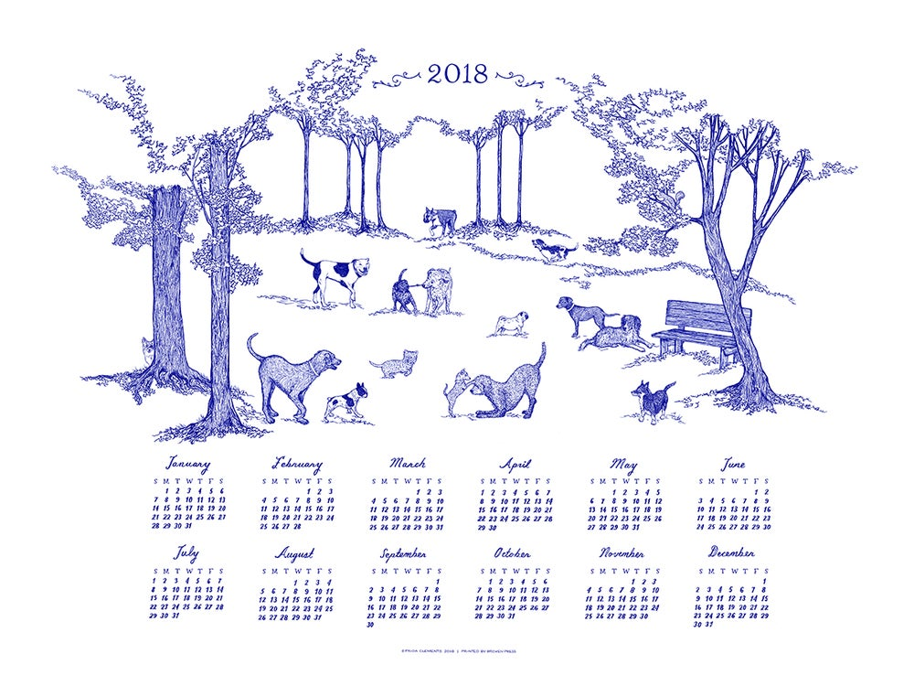 Image of 2018 Year Of The Dog Wall Calendar
