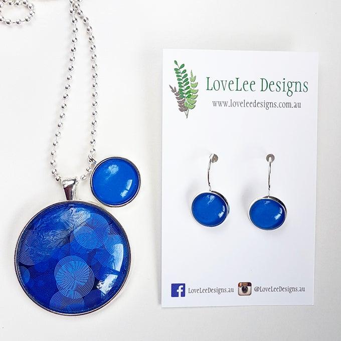 Image of NEW! Gift Set - Blue circles
