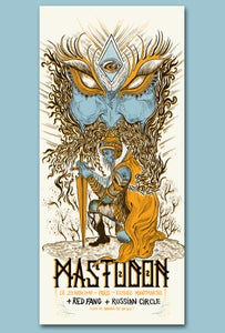 Image of MASTODON (Paris 2017) screenprinted poster