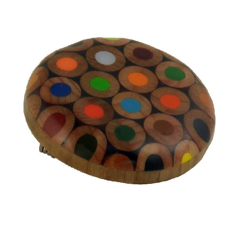 Image of round brooch