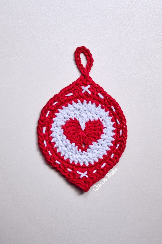 Image of The Lovebomb Christmas Ornament Pattern (PRINTED PATTERN)
