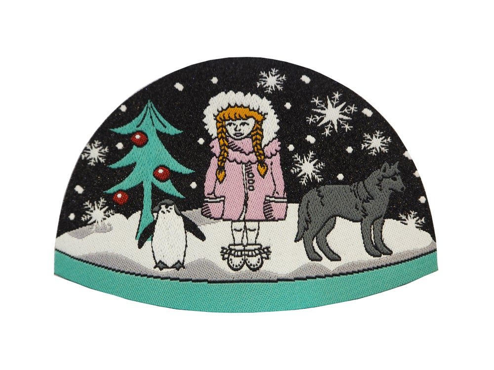Image of Snowgirl Snowdome Iron-on Patch