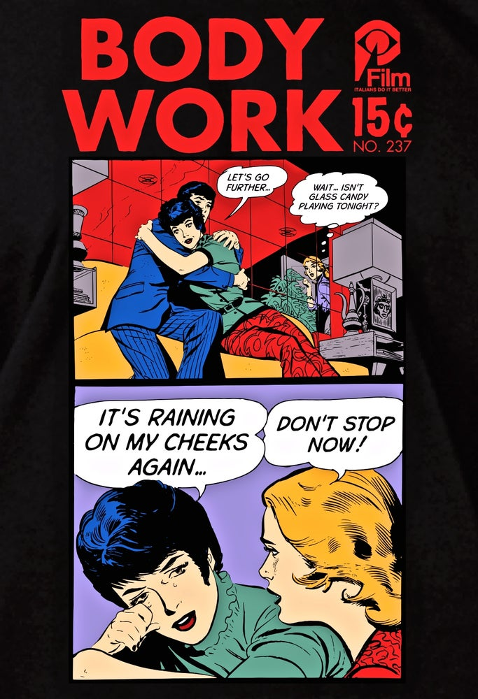 "Image of GLASS CANDY ""Body Work"" Comic Book T Shirt"