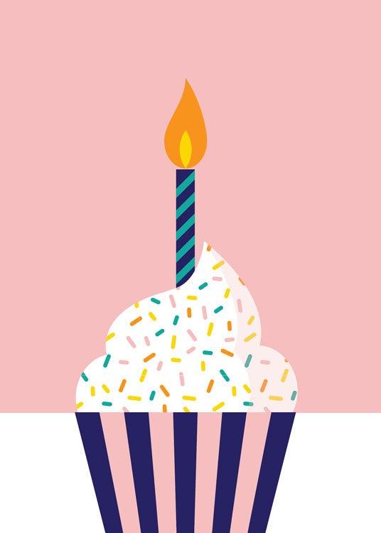Image of Cupcake Birday Greeting Card