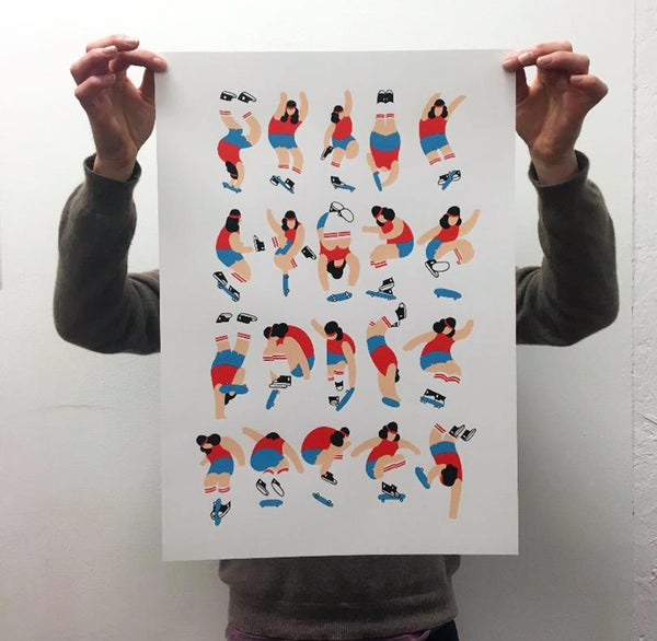 Image of ' Freestylers ' A2 Screen Print