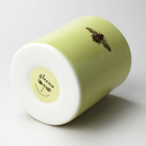 Image of 16oz tumbler with bumblebee, mustard