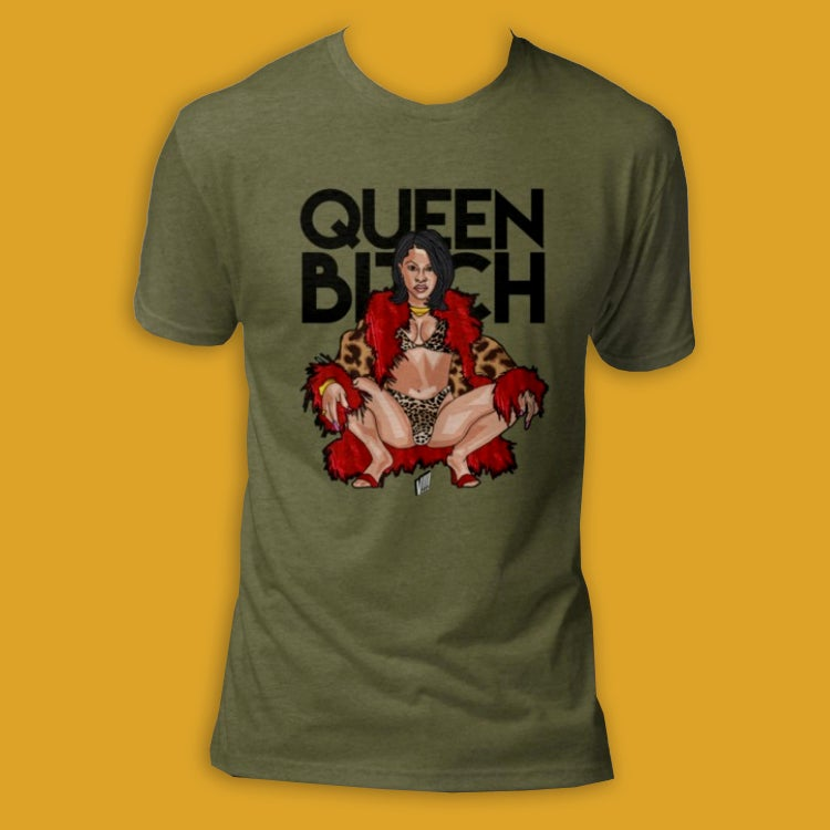 Image of Queen B*tch (Tri-Blend Tee)
