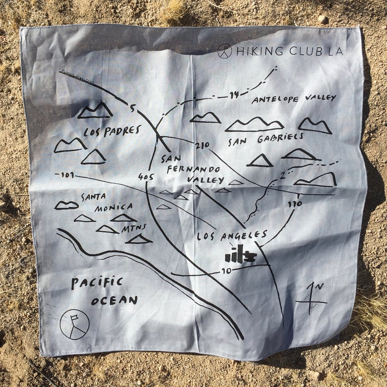 "Image of Hiking Club LA ""Map"" Bandana"