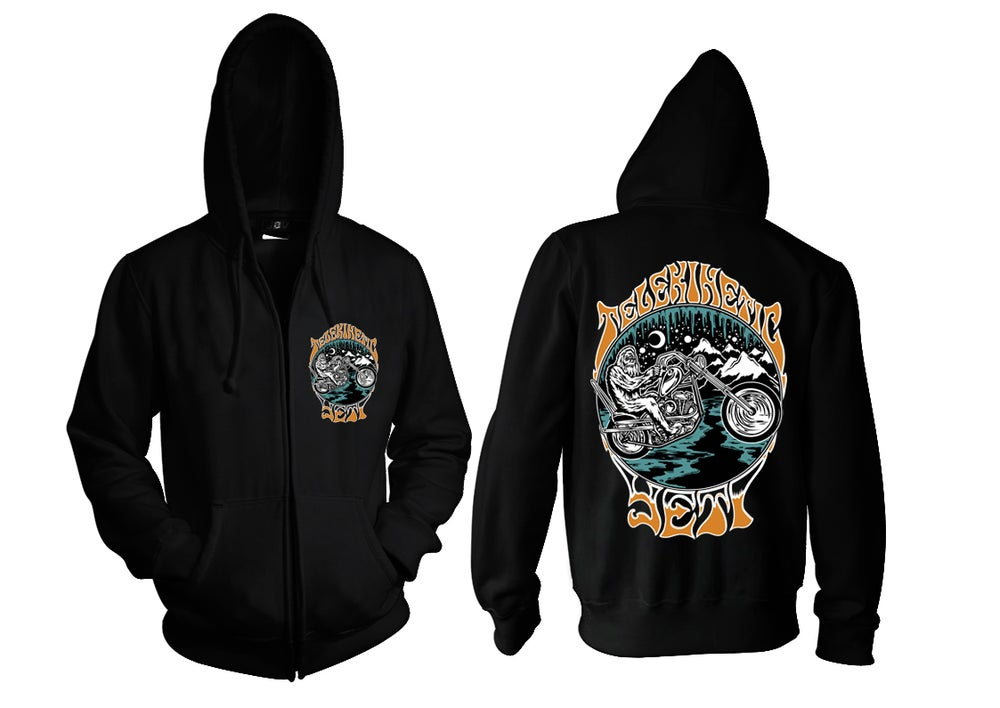 Image of Motorcycle Yeti Zip Up Hoodie