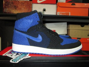 "Image of Air Jordan I (1) Retro Hi Flyknit ""Blk/Royal"""