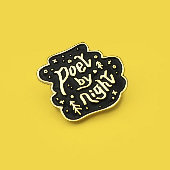 Image of Poet by Night Enamel Pin
