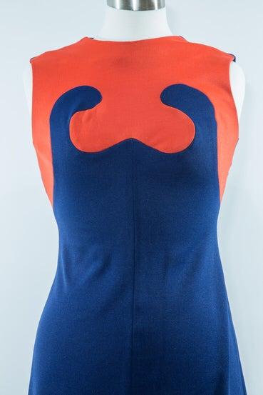 Image of 70s Colorblock Maxi Dress