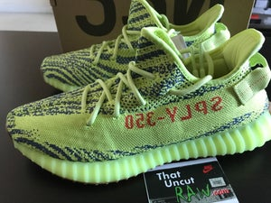 """Image of (SOLD OUT) adidas yeezy 350 v2 """"semi-frozen yellow"""", brand new"""