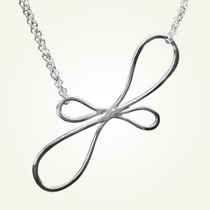 Image of Victorian Ribbon Necklace, Sterling Silver