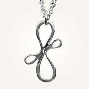 Image of Victorian Ribbon Mini Necklace, Sterling Silver