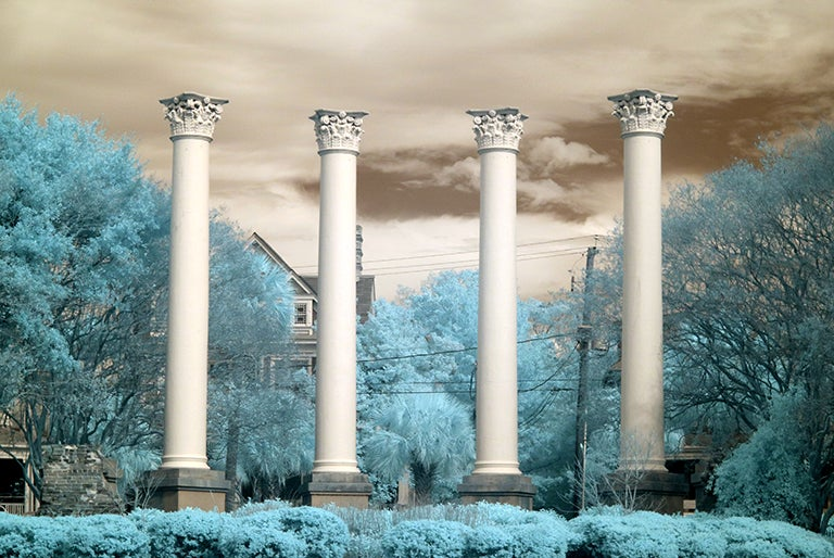 "Image of ""Old Charleston Museum Infrared"" 13x19 Art Paper"