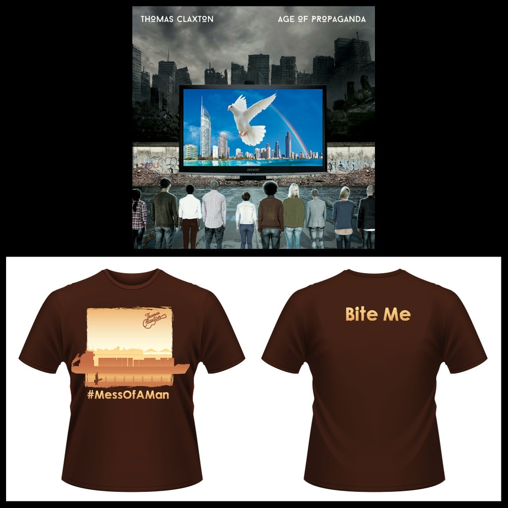 "Image of T CLAX ""Age Of Propaganda"" Album / ""Mess Of A Man"" Shirt COMBO"