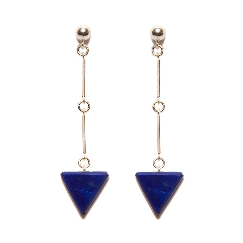 "Image of ""CODA"" Lapis Lazuli Sterling Silver Earrings"