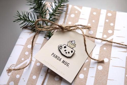 """Image of """"Panda Mug"""" Hard Enamel Pin"""