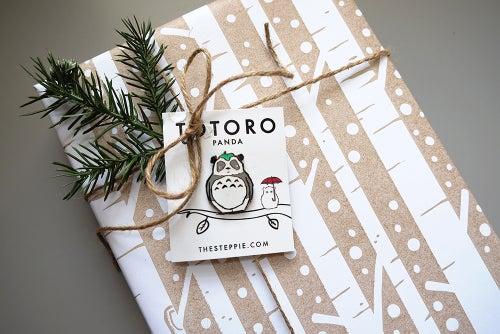 """Image of """"Totoro Panda"""" Hard Enamel Pin"""