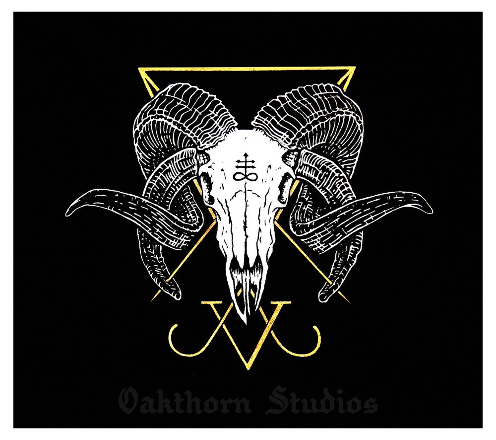 Image of Luciferian Ram Skull Backpatch