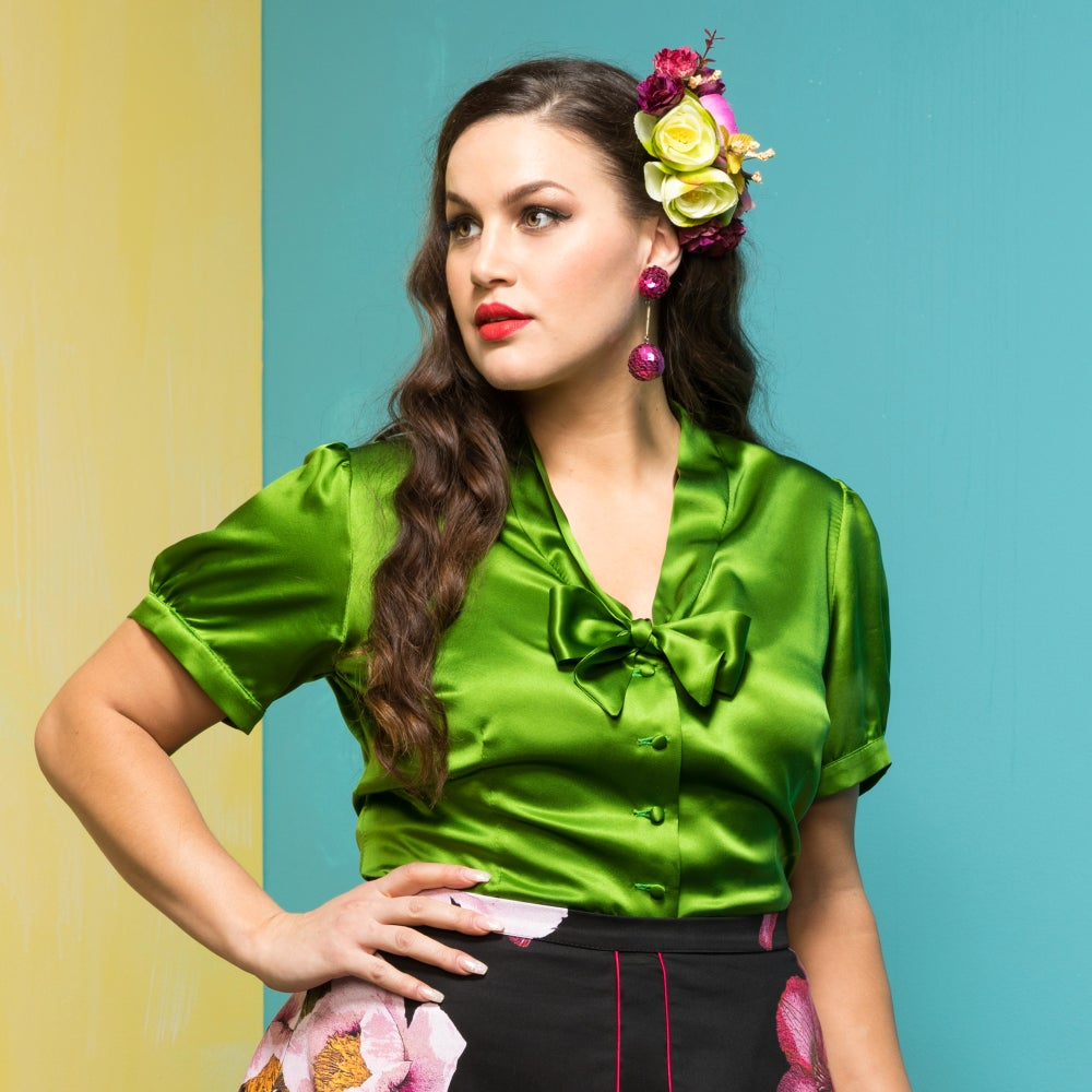 Image of DANZON SILK BLOUSE
