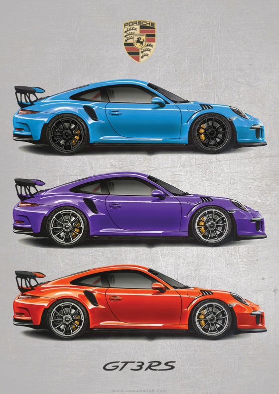 Image of Porsche 911 GT3 RS Poster Print (Special Edition)
