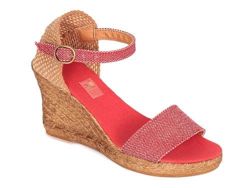 Image of 8 cm sandal espadrilles - ankle strap